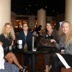 Amy, Mary Sue Seymour, Amanda Flower, Jennifer Beckstrand, & Jen Turano