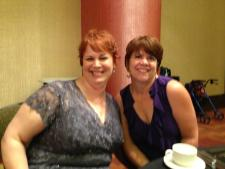 Me and Julie Gwinn my editor