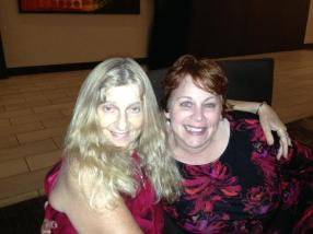 With my agent Mary Sue Seymour