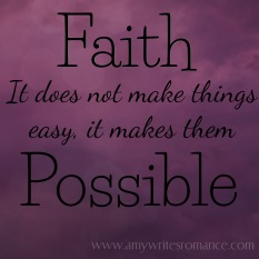 faith and possibilities
