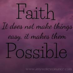 faith and possibilities